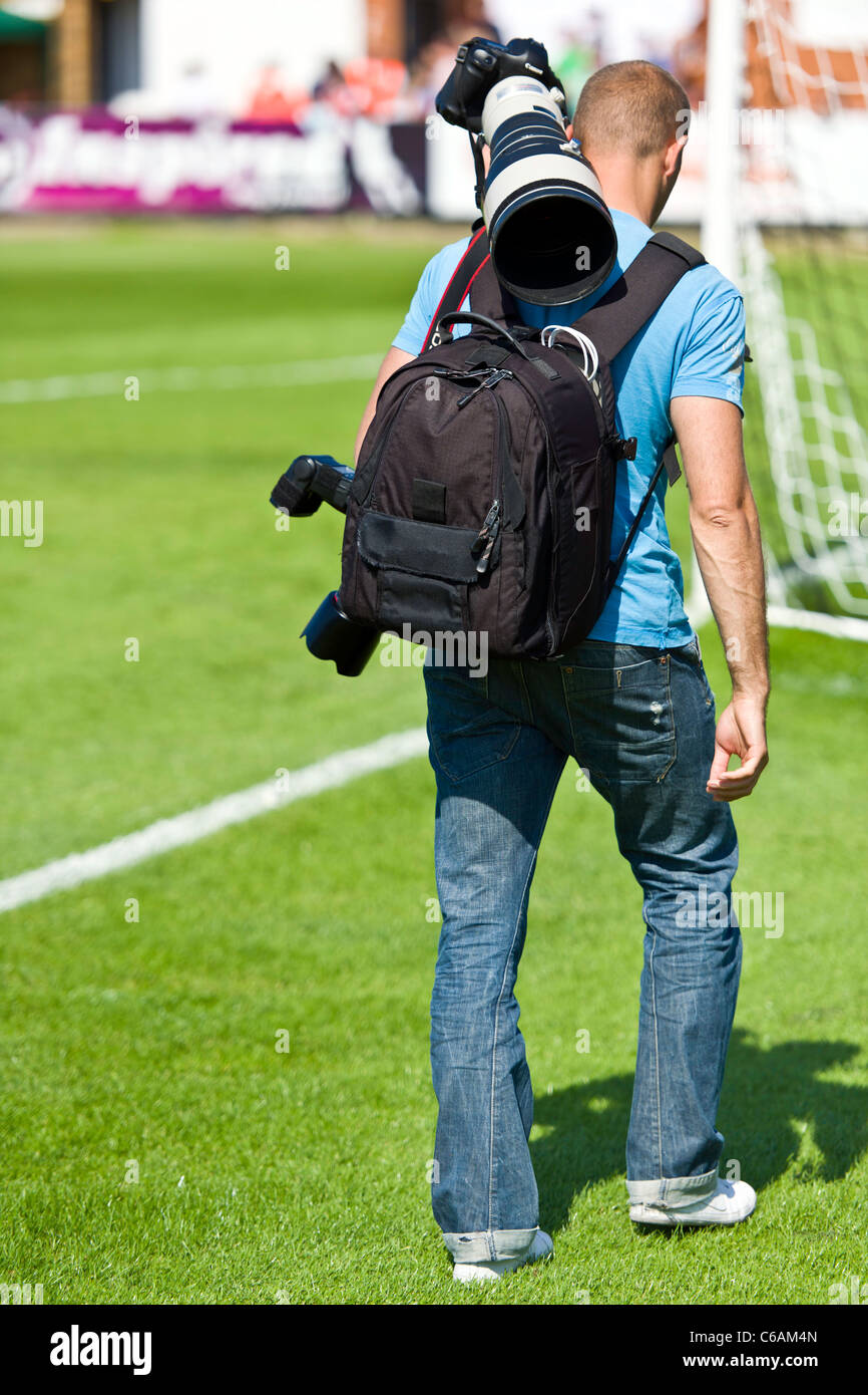 Professional Sports Photographer - Stock Image