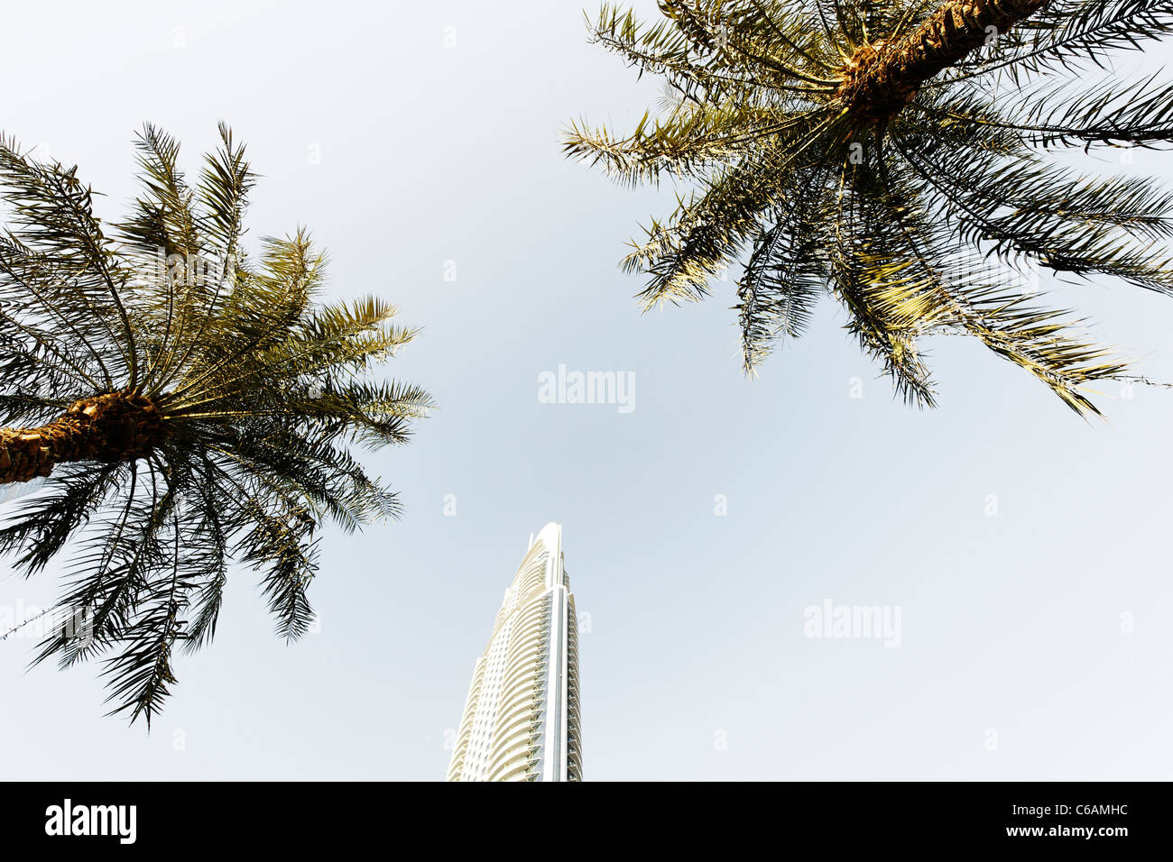 Burj Khalifa, the tallest building in the world, 828m high, Downtown Dubai, Dubai, United Arab Emirates, Middle - Stock Image