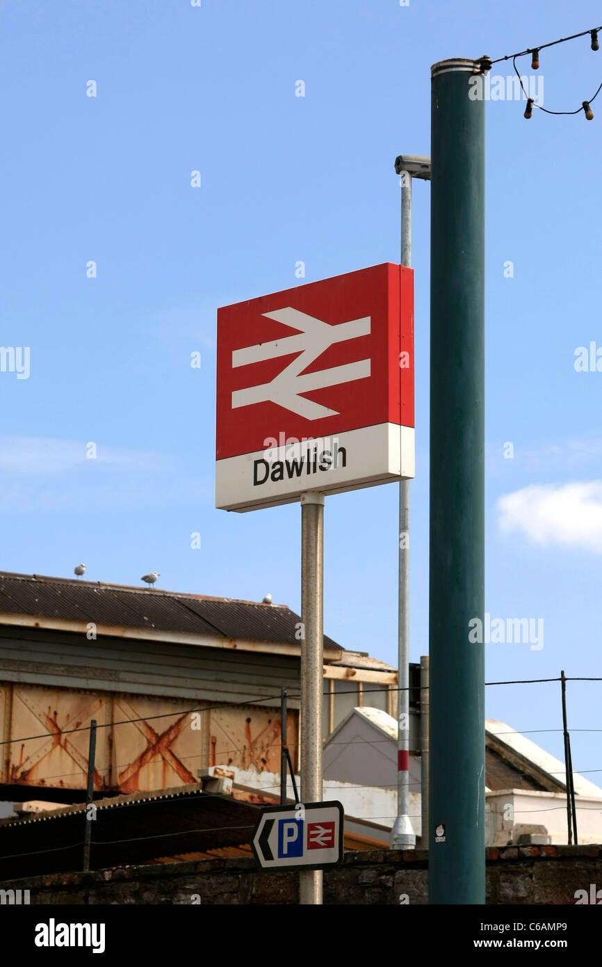 Dawlish Railways Station Signpost - Stock Image