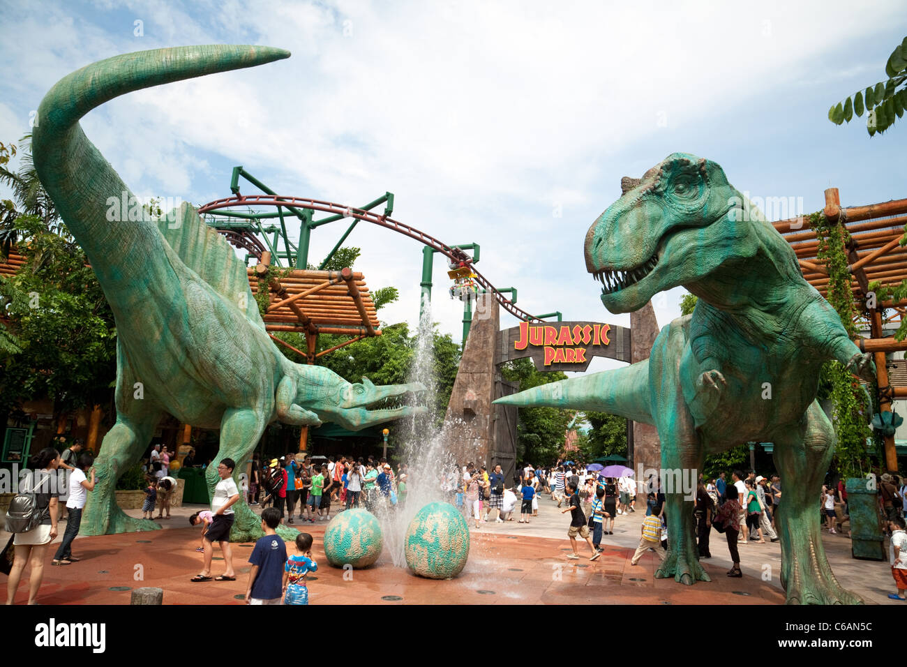 The Jurassic Park attraction at Universal Studios ...