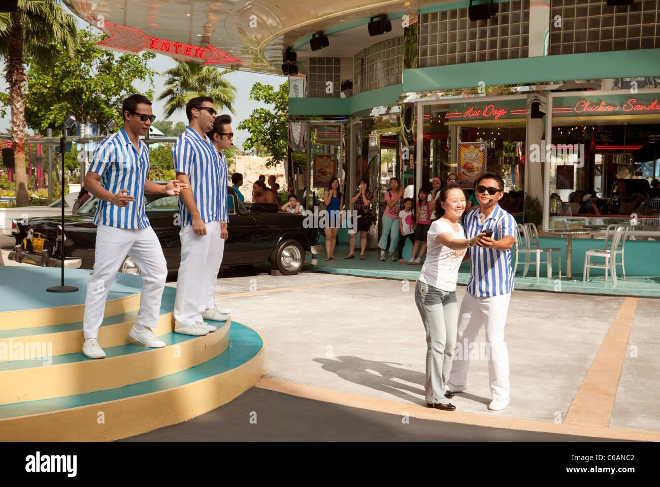 Male 1950s American Singing Group Universal Studios Singapore