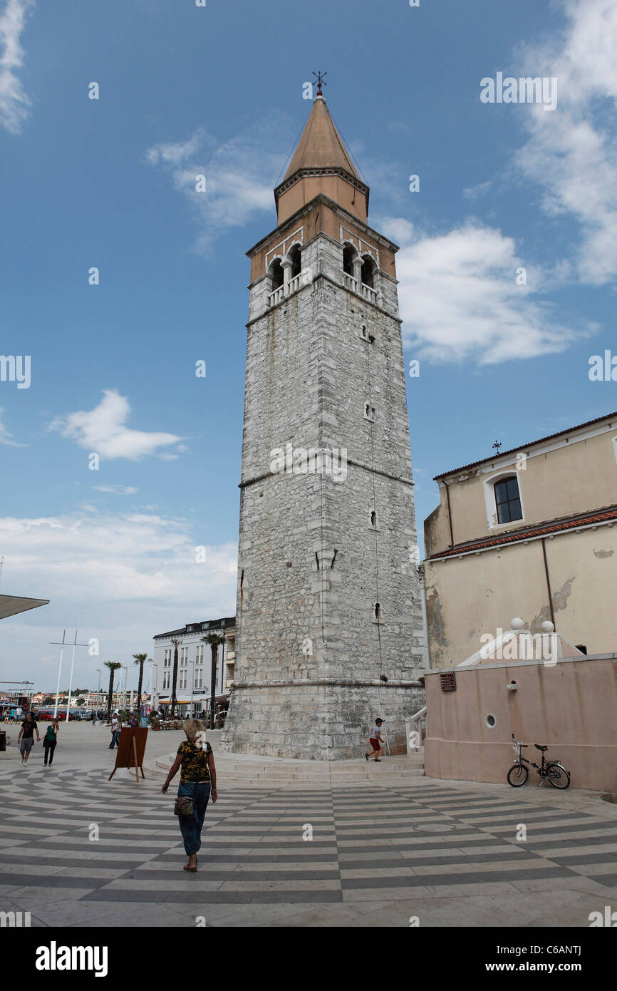 Piazza Slobode Liberta in Umag,Croatia. - Stock Image