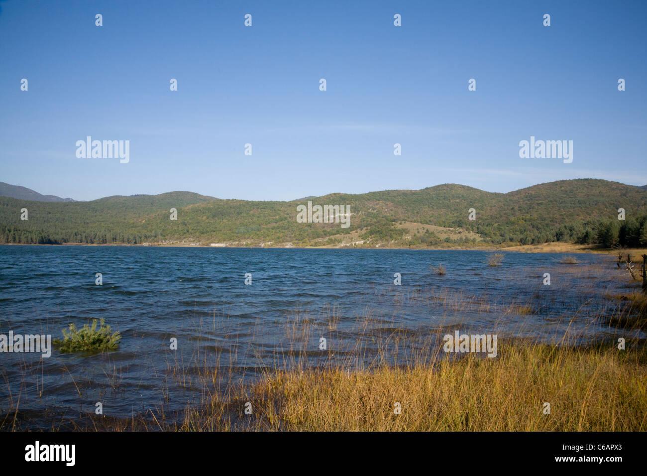 Palsko Lake, Pivka lakes, Slovenia. - Stock Image