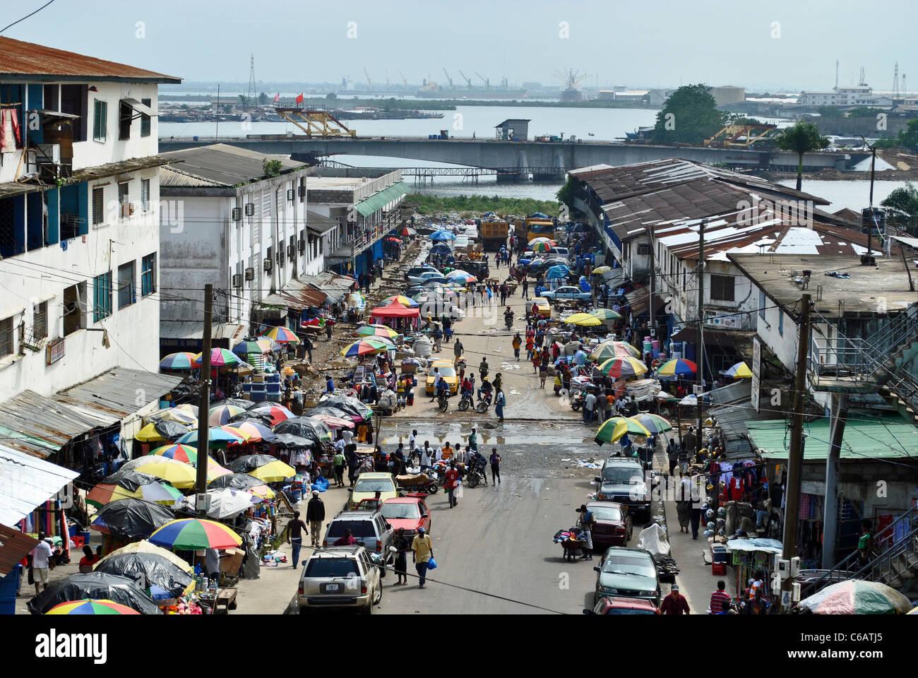 Downtown Monrovia, Liberia - Stock Image
