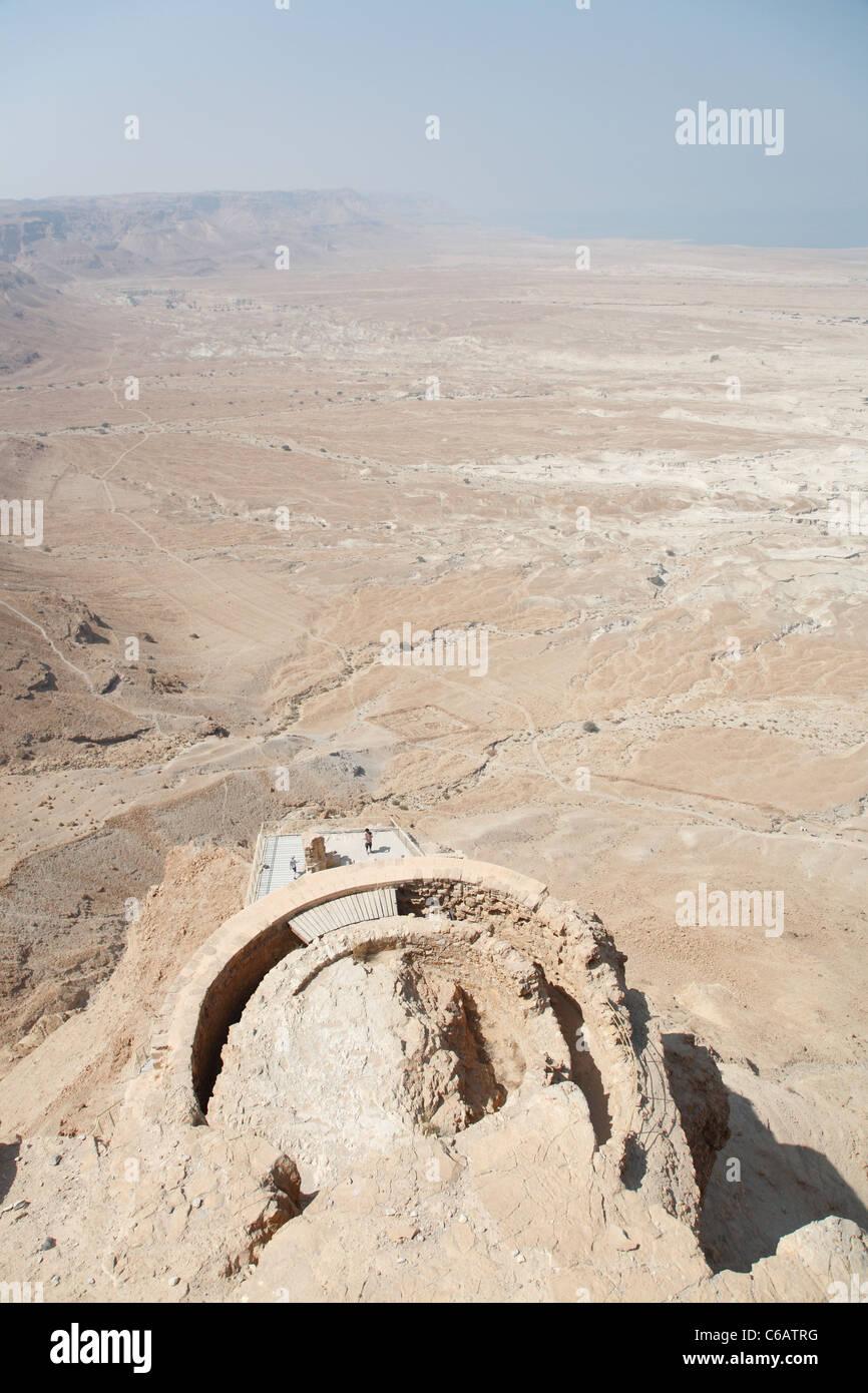 Ancient ruins, Masada, Dead Sea, Israel - Stock Image