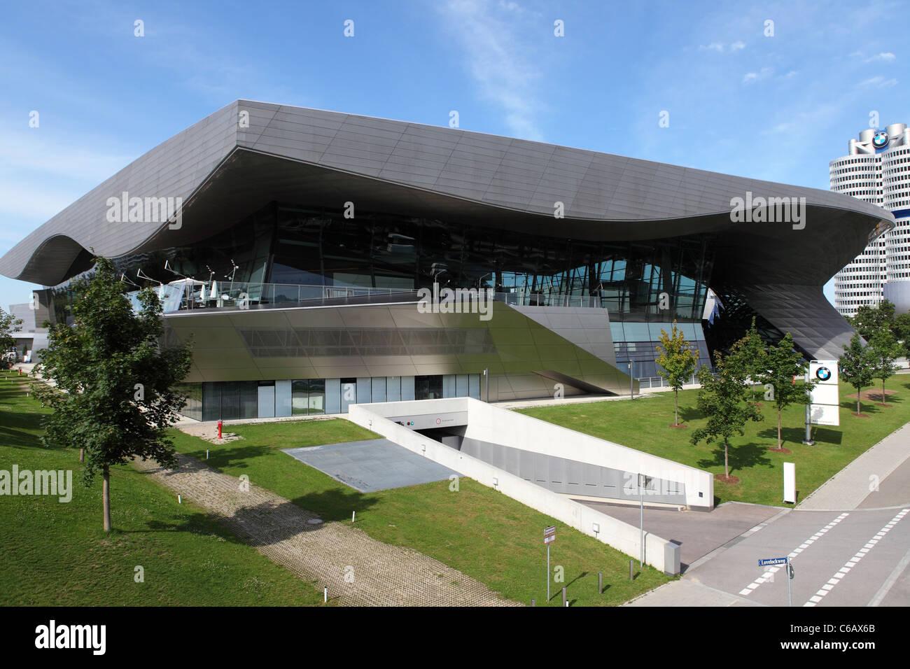 The BMW Welt (BMW World) building, in Munich, Bavaria, Germany. - Stock Image