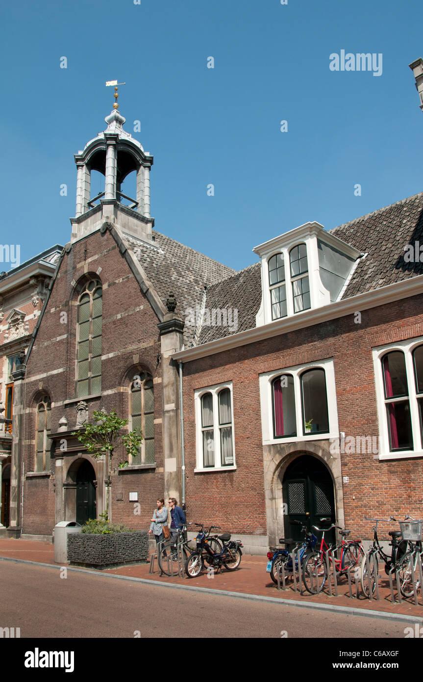 Church Eglise Wallone Breestraat Waalsekerk Leiden Netherlands Holland Stock Photo