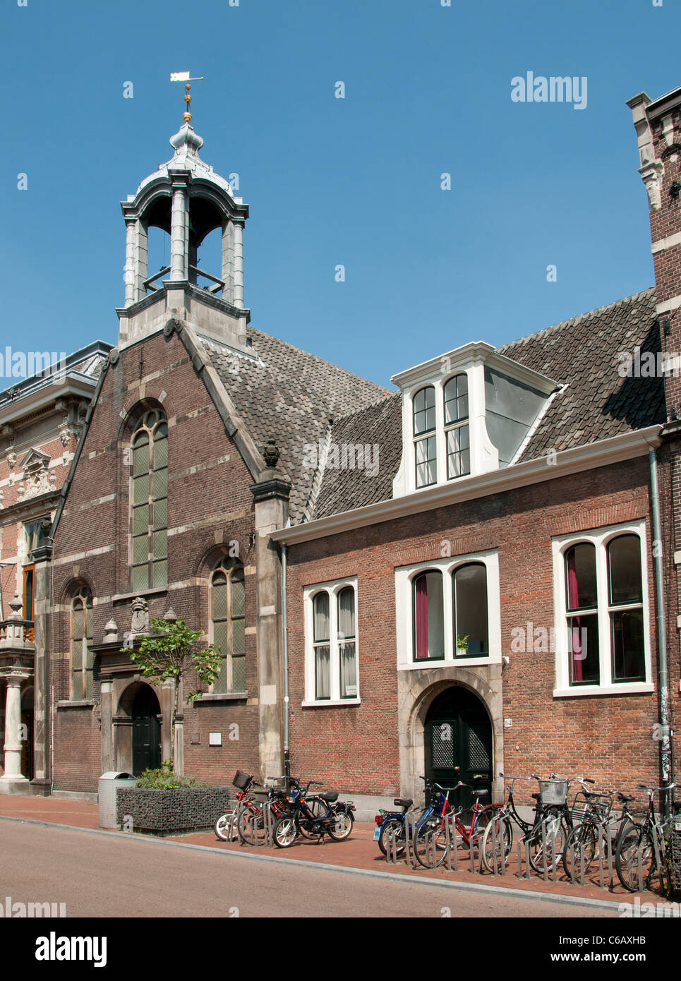 Church Eglise Wallone Breestraat Waalsekerk Leiden Netherlands Holland Stock Photo