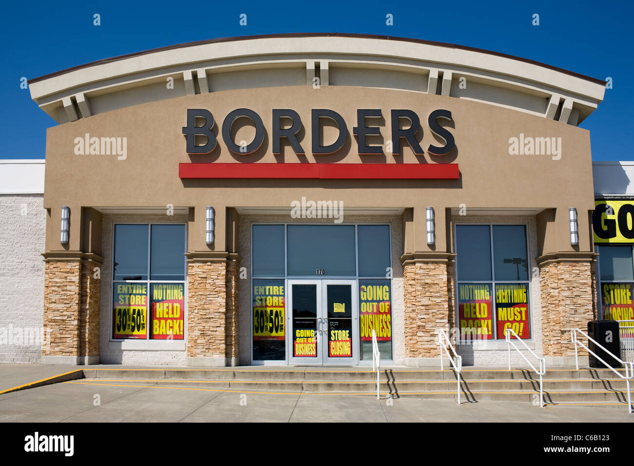 Borders Bookstore going out of business sale, August 2011 - Stock Image