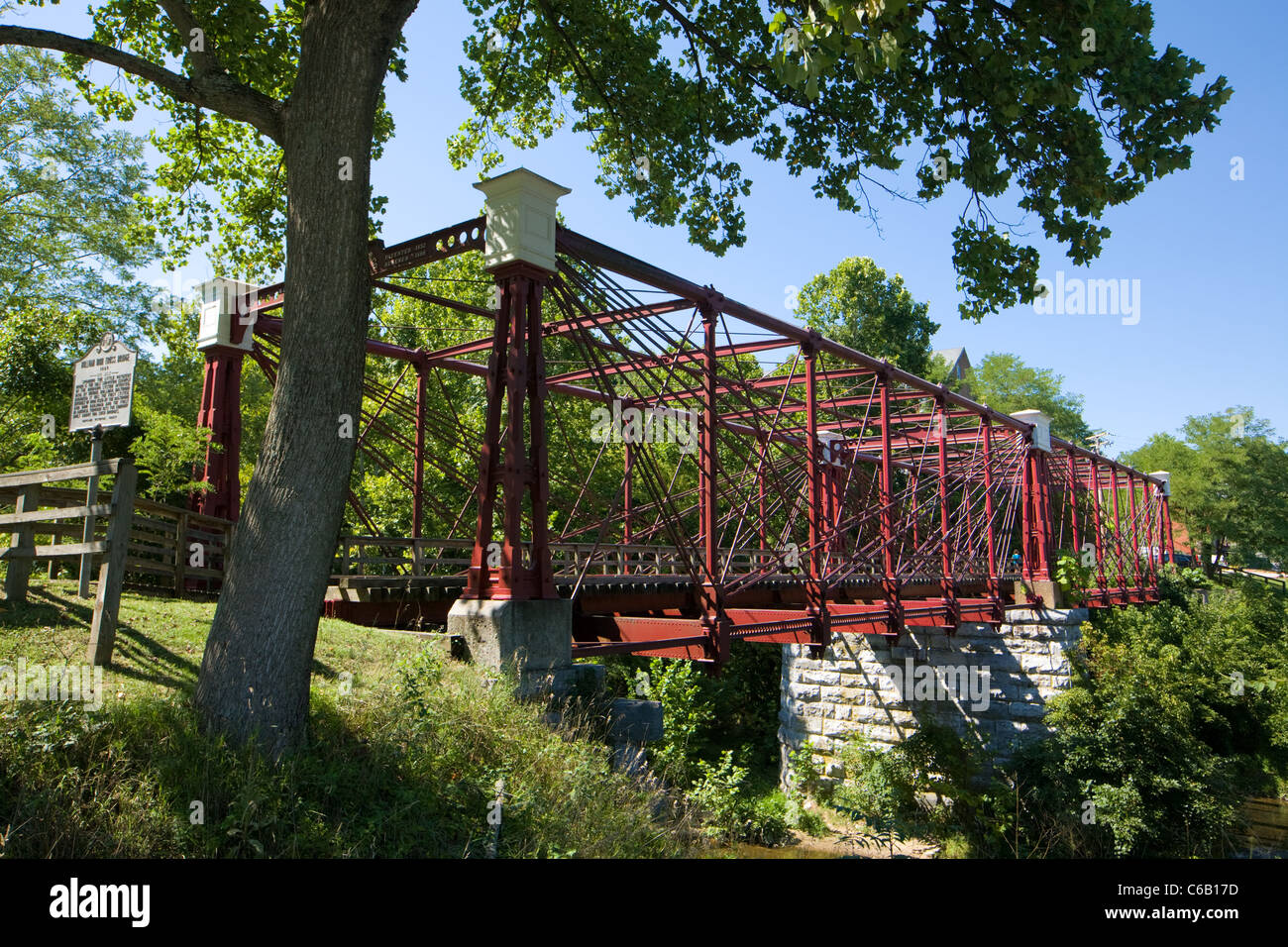 Bollman iron truss bridge, B & O Railroad 1869, Savage Maryland National Historic Landmark, last surviving iron - Stock Image