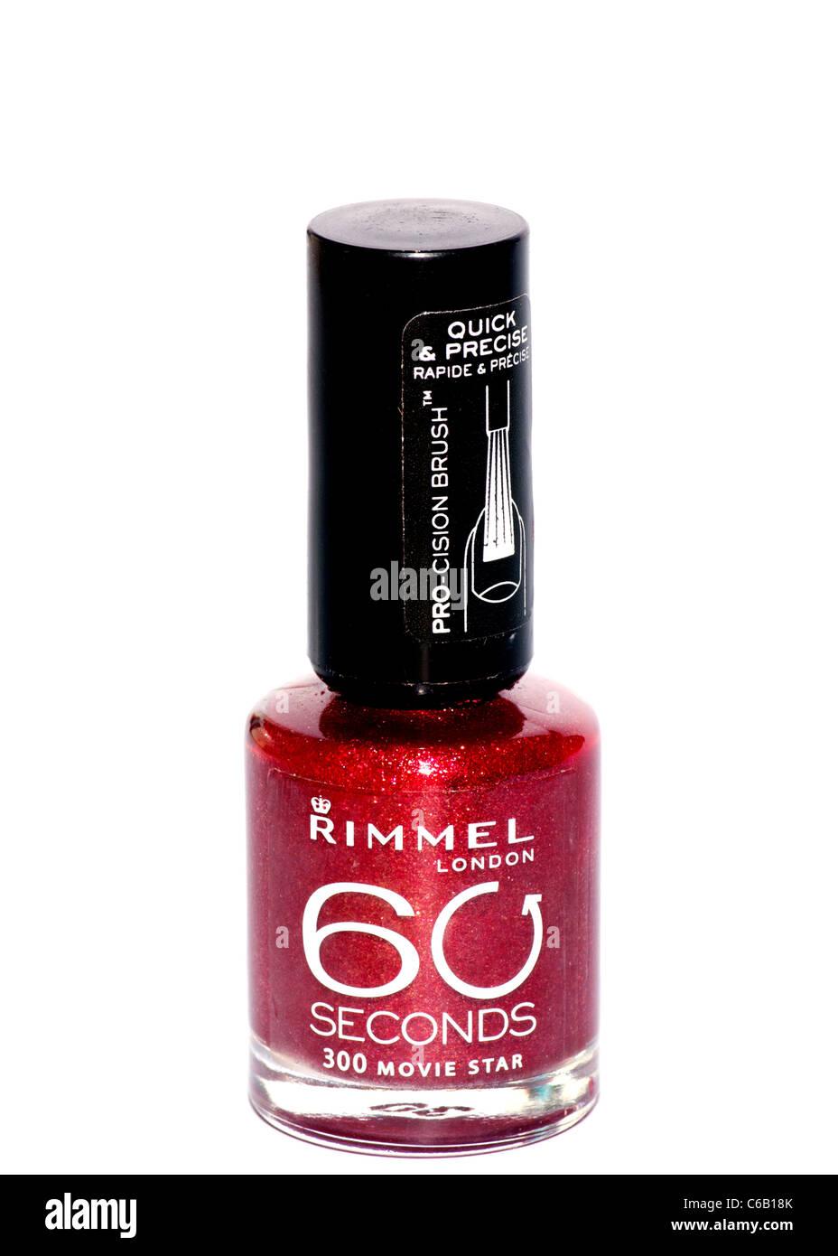Bottle Of Rimmel London Nail Varnish - Stock Image