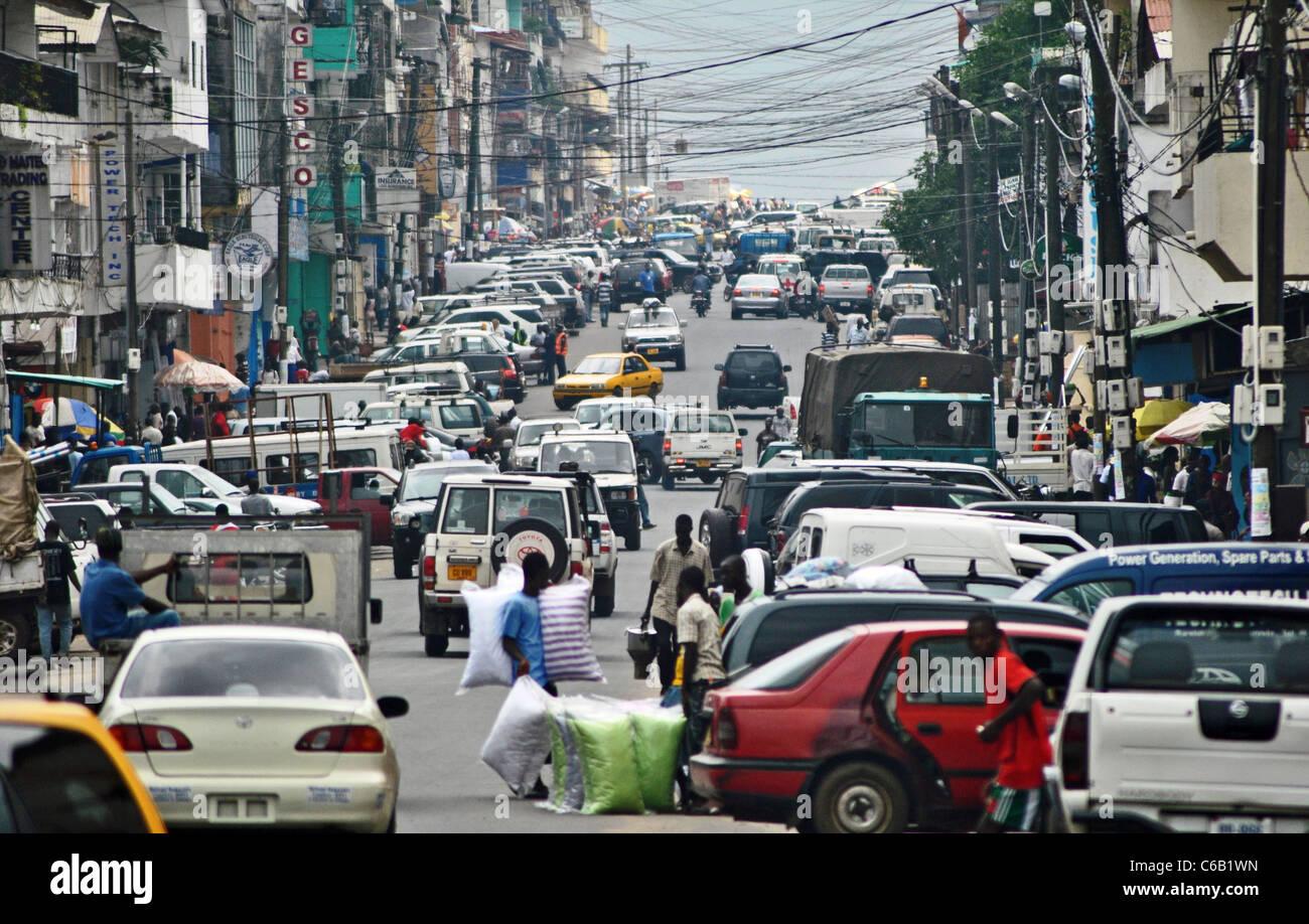 Central Monrovia, Liberia - Stock Image