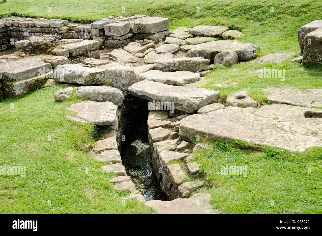 Roman drain at Chesters Fort, on Hadrian's Wall, England. - Stock Image