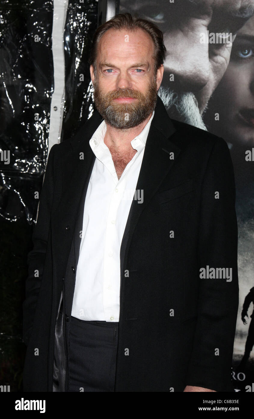 Hugo Weaving Premiere Of The Wolfman At Arclight Cinemas Red Stock Photo Alamy