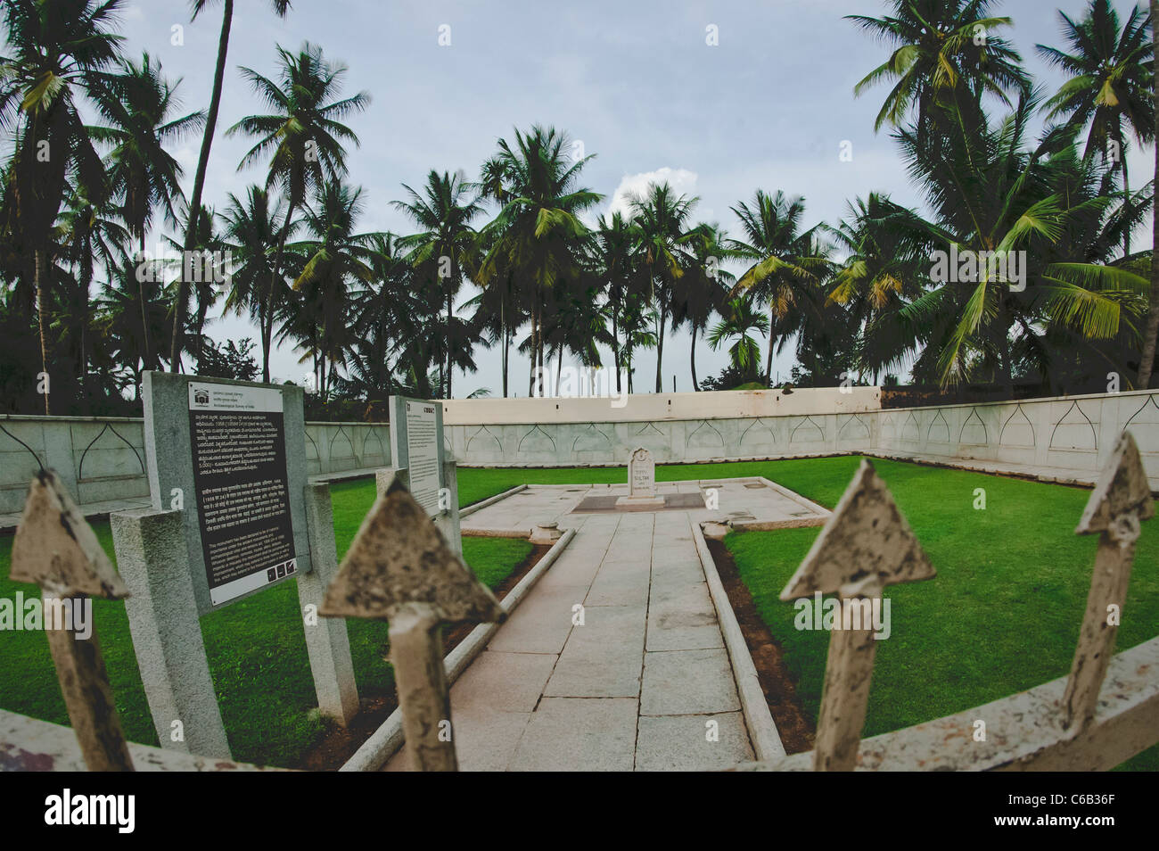 The Memorium in honour of the executed British people at Srirangapatna-Karnatka-India. - Stock Image