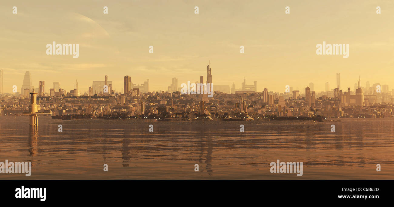 Future City Seaboard - Stock Image