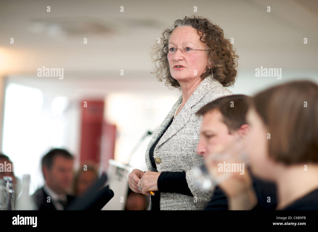 19th October 2009. London Mayoral Candidate,  Millbank,  Tower London.Jenny Jones Green Party - Stock Image