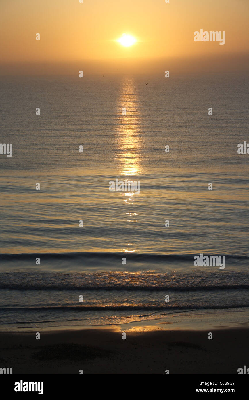 sun rise Norfolk - Stock Image