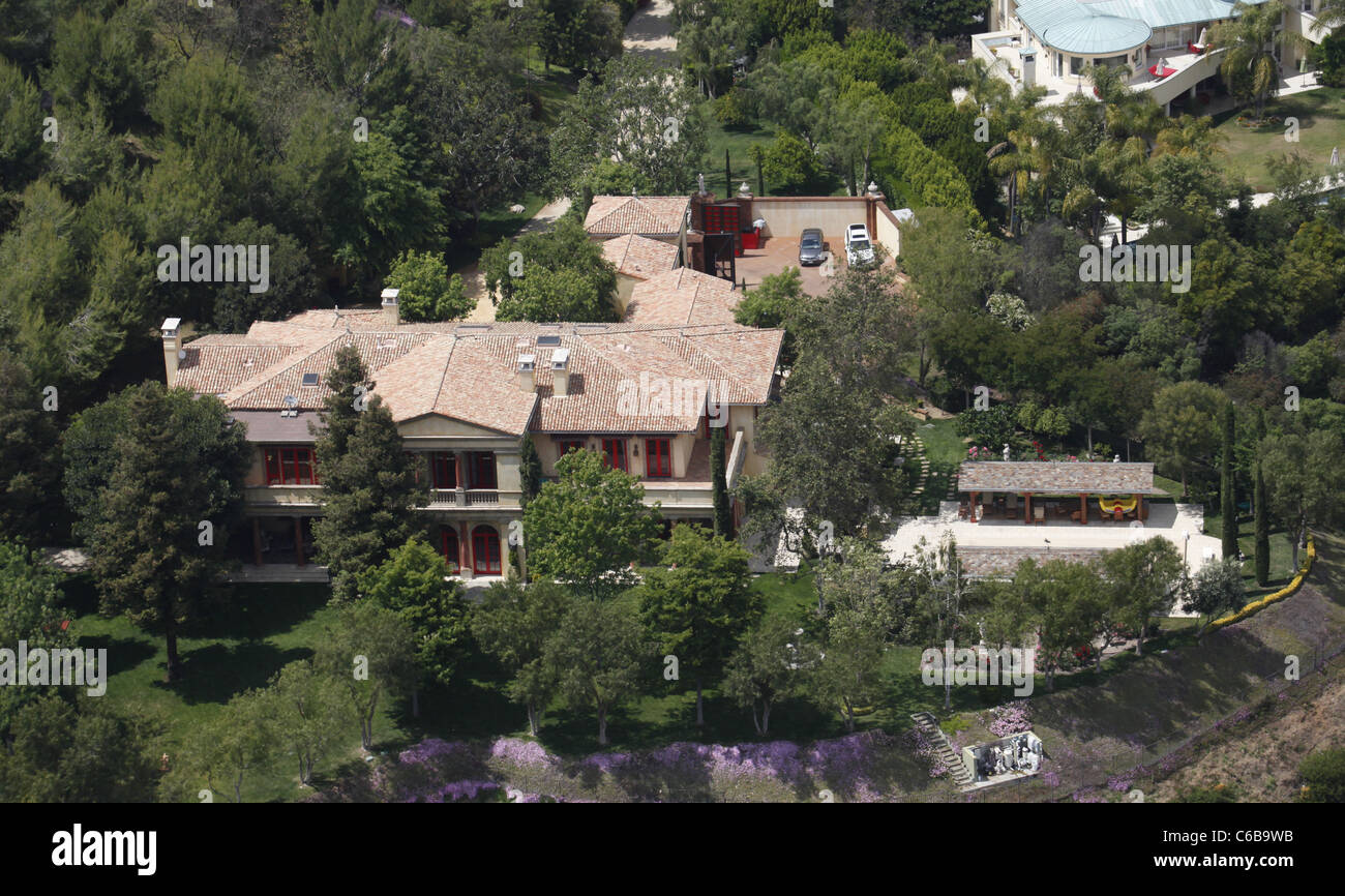 aerial view of the house sylvester stallone lives in in a. Black Bedroom Furniture Sets. Home Design Ideas