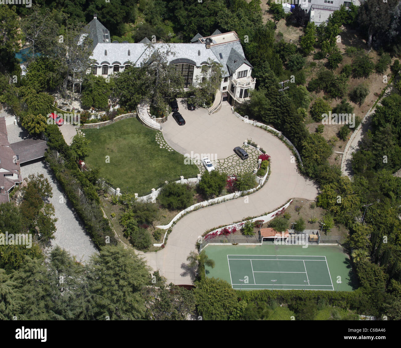 Aerial view of the house Gene Simmons of KISS lives in