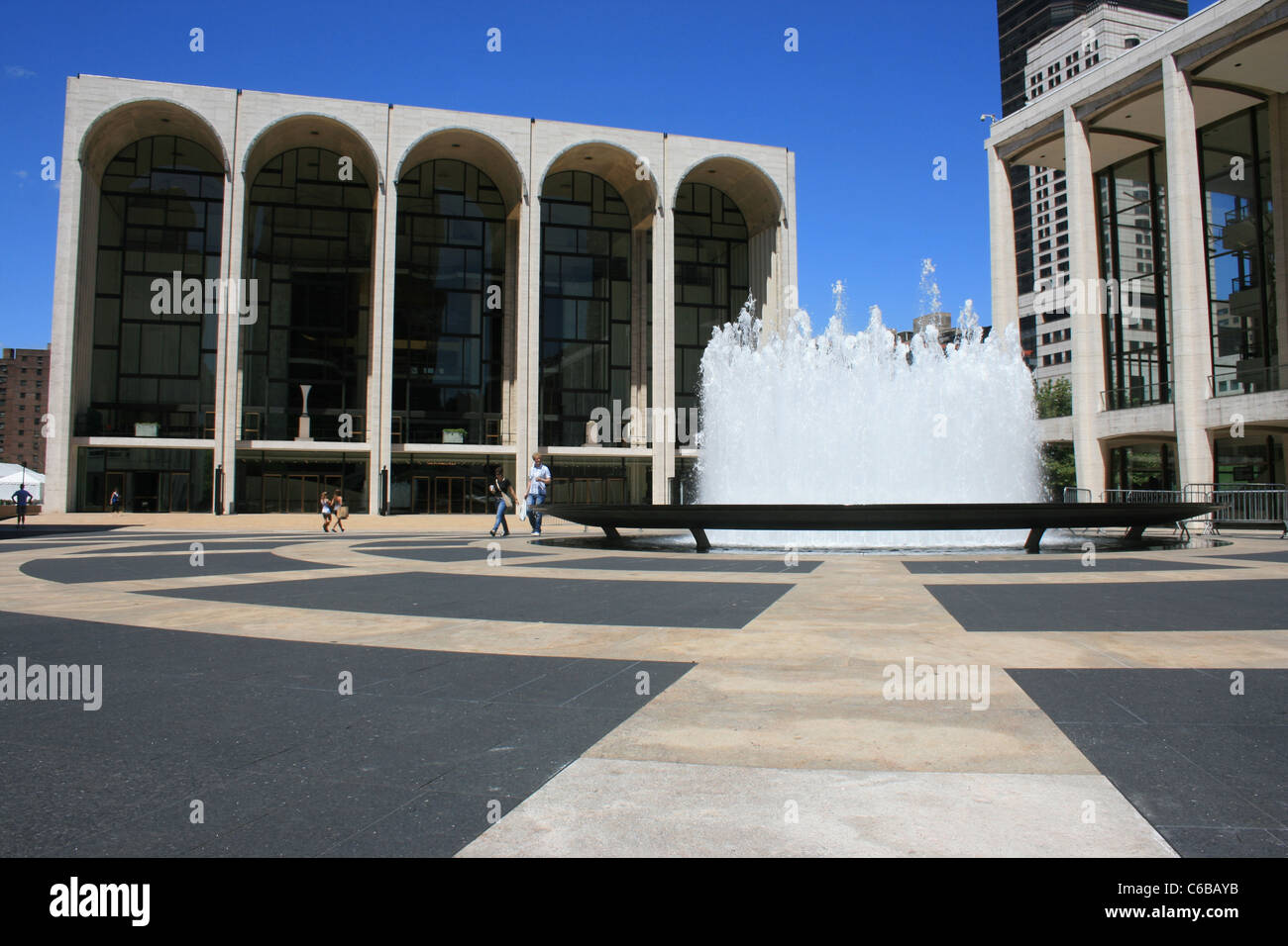 Plaza at Lincoln Center, New York City. - Stock Image