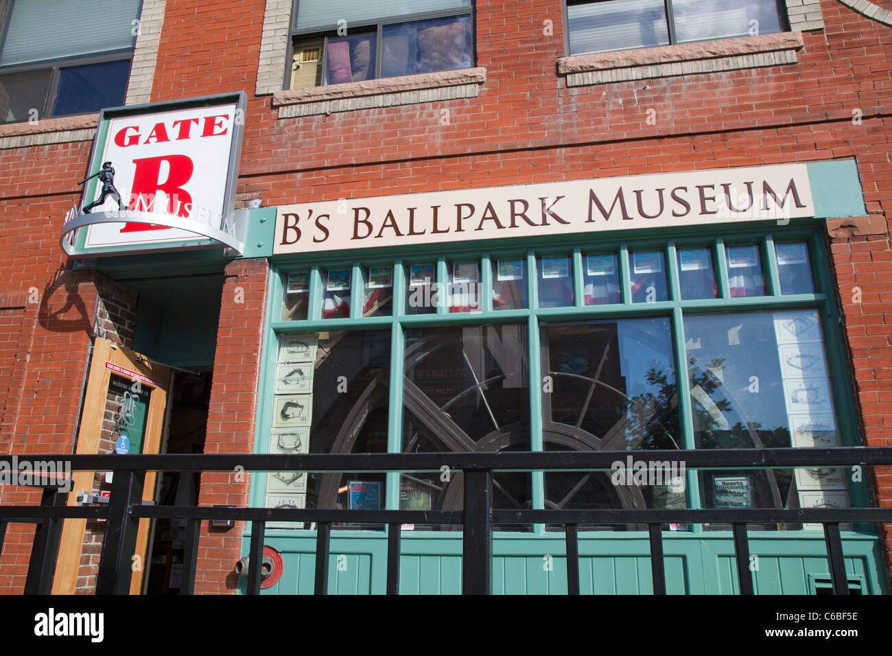 Denver, Colorado - B's Ballpark Museum, a small museum near Coors Field that contains memorabilia from all major - Stock Image