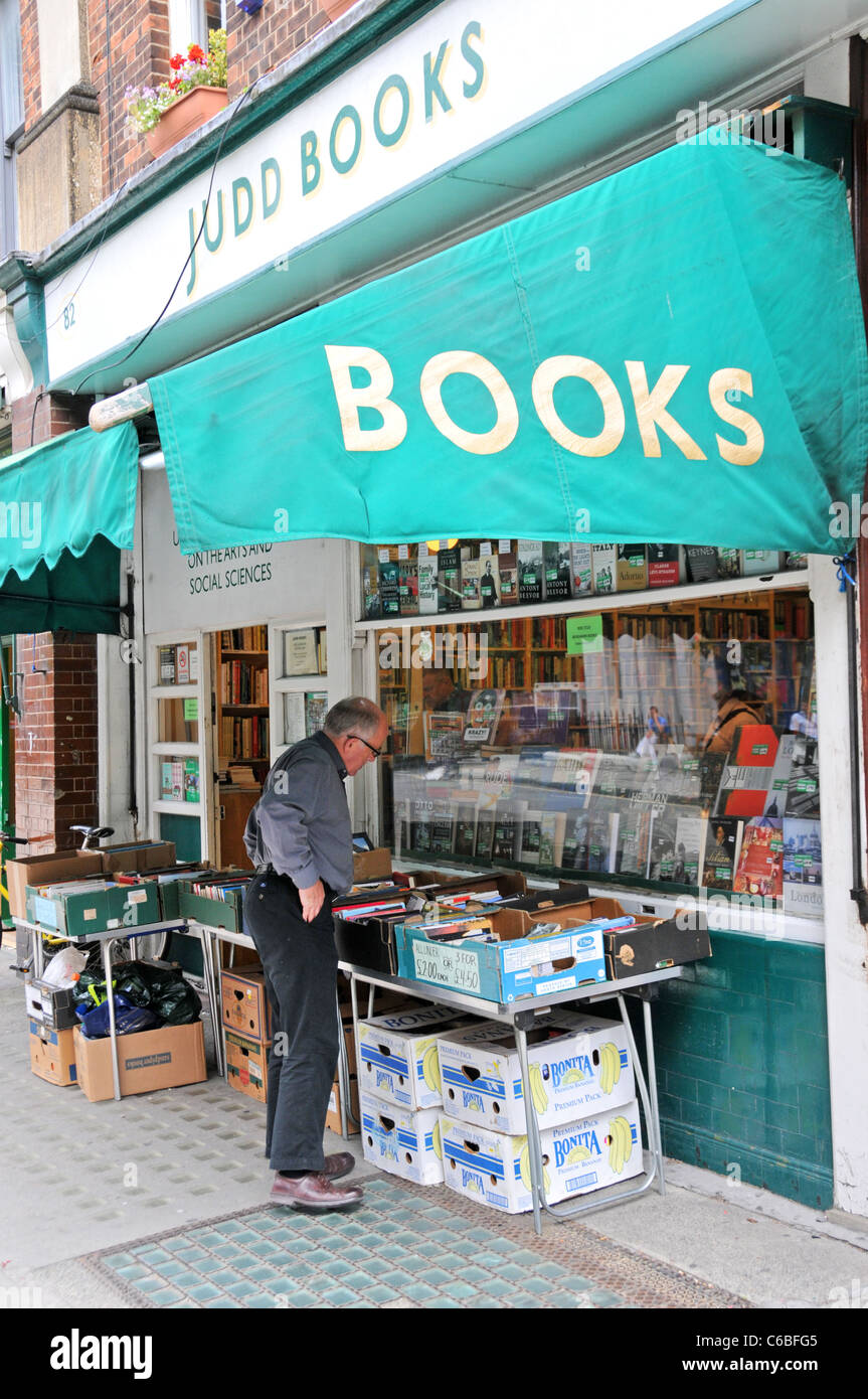 Judd Books academic secondhand Book shop Bookshop Bloomsbury - Stock Image