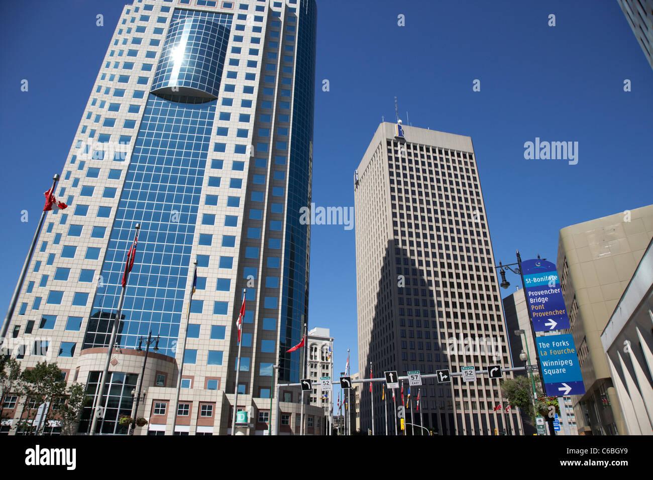 201 portage canwest place toronto dominion centre tdc downtown winnipeg manitoba canada Stock Photo