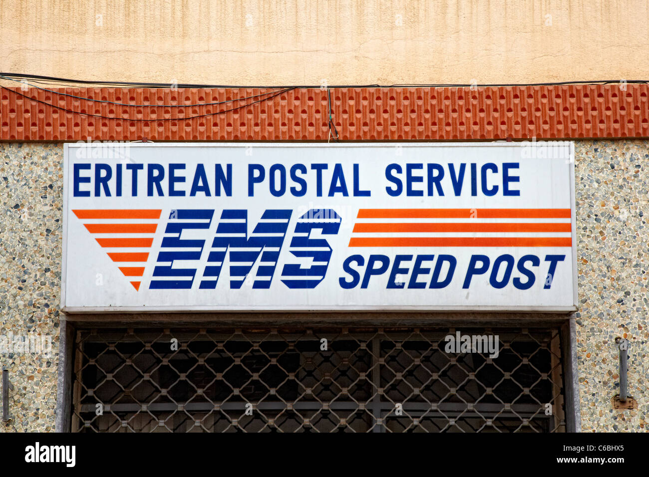 Eritrean Postal Service, Asmara, Eritrea - Stock Image