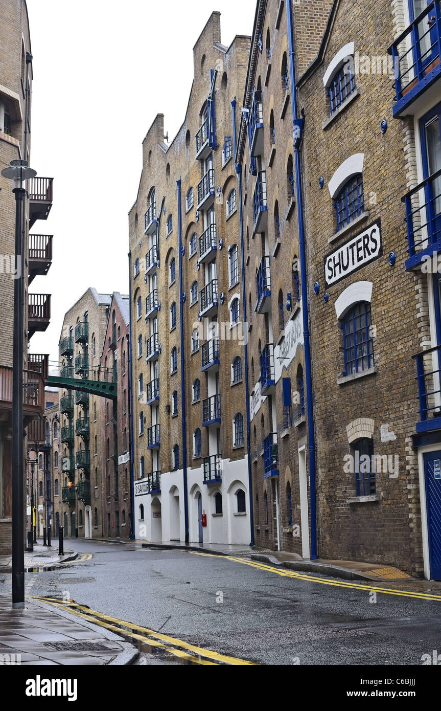 Shad Thames is an historic riverside street in London - Stock Image