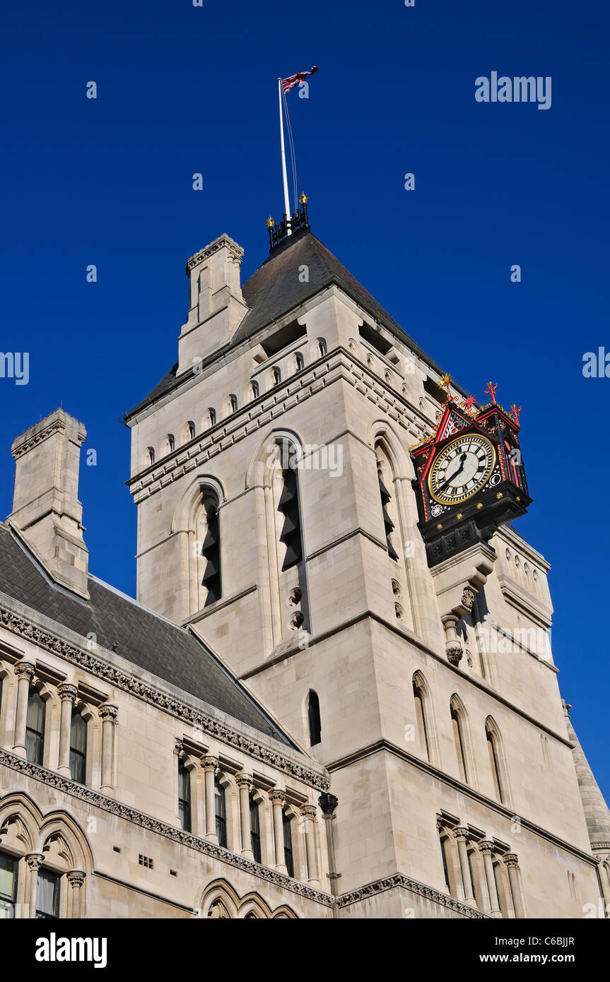 Royal Courts of Justice, London, England - Stock Image