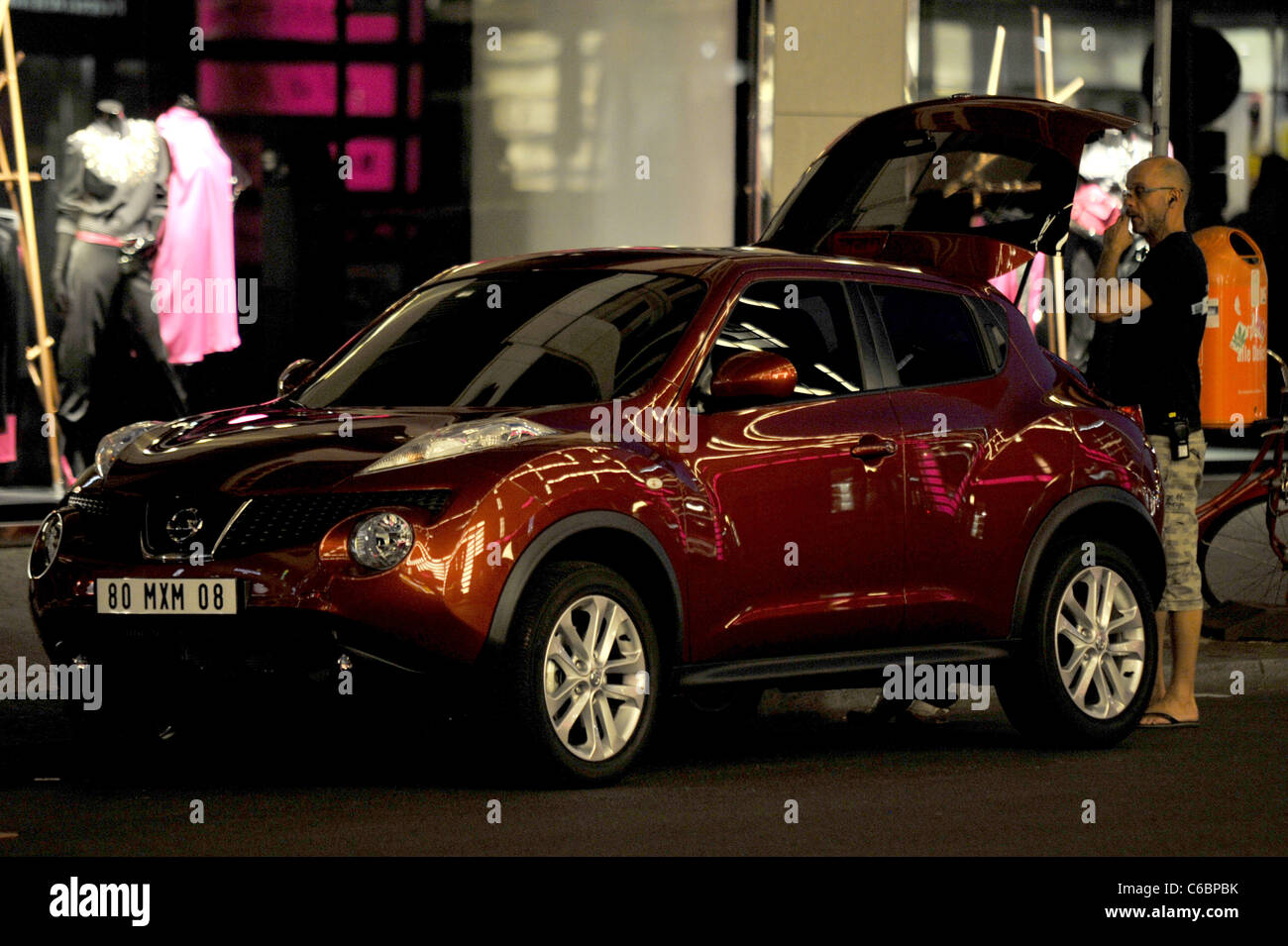 Atmosphere on the set of a car commercial for the new Nissan Juke at ...