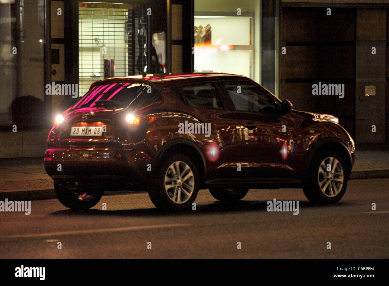 Atmosphere On The Set Of A Car Commercial For The New Nissan Juke At  Friedrichstrasse Street