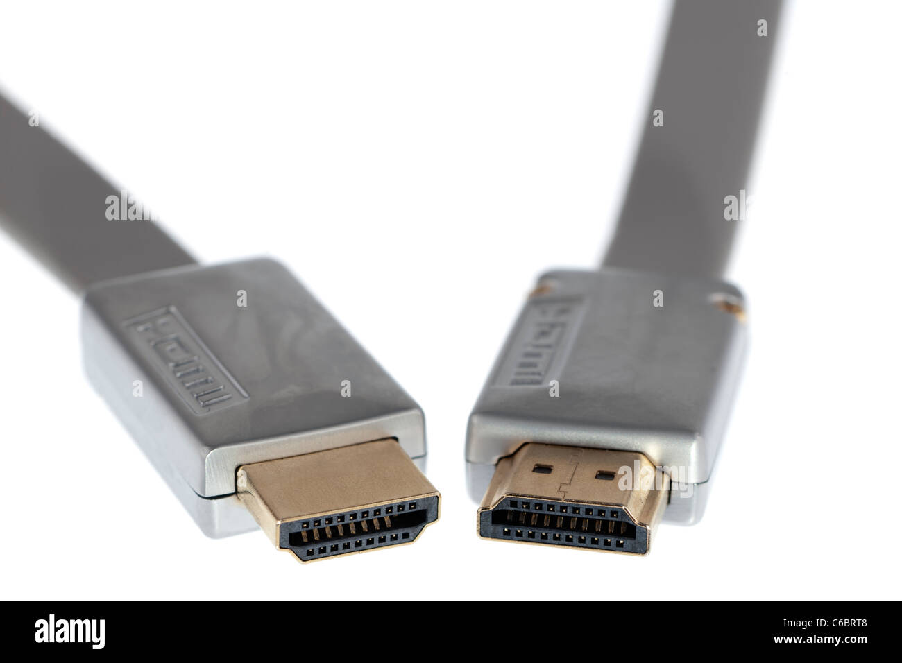 Flat hdmi to hdmi digital cable - Stock Image