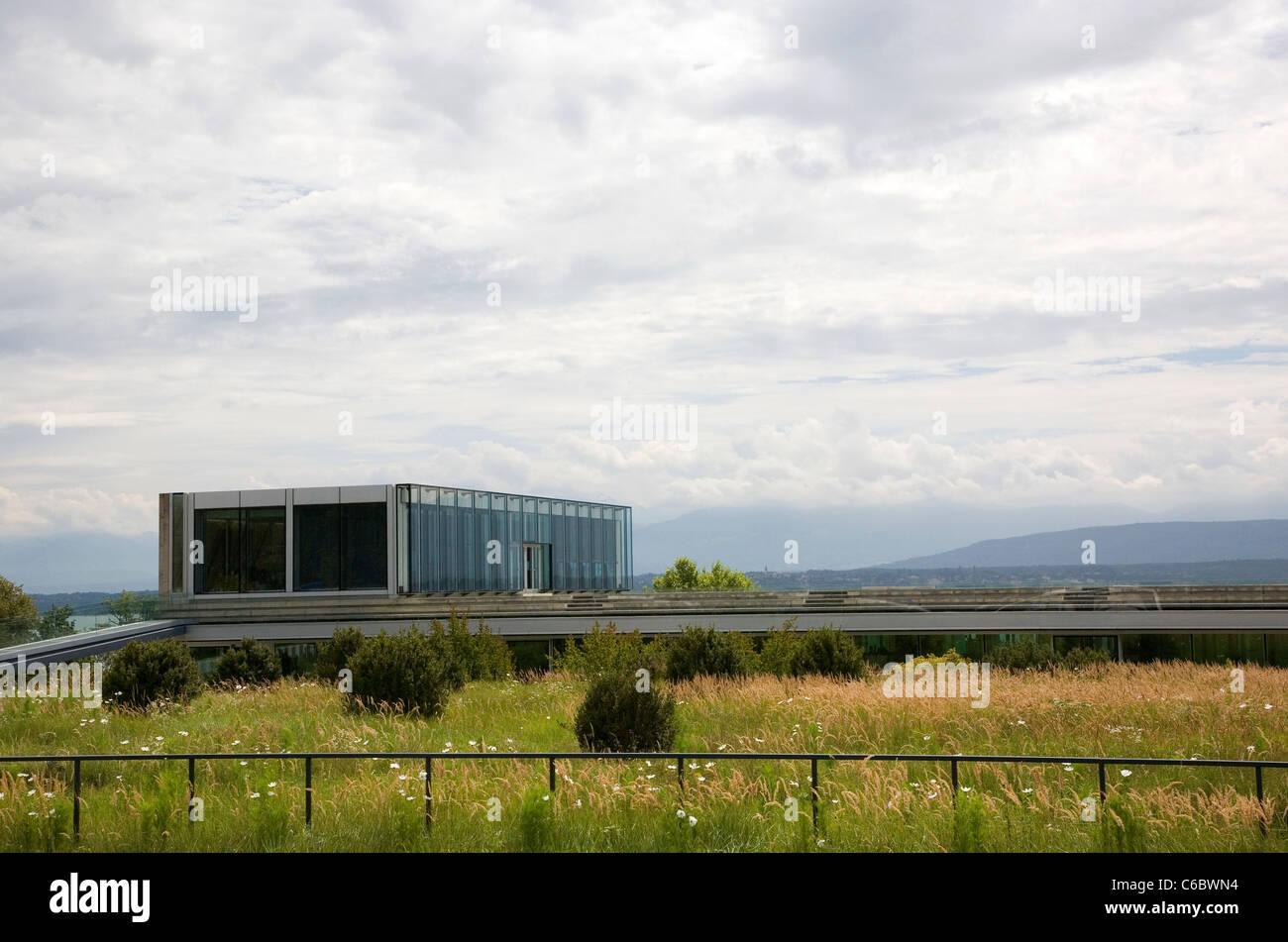 UEFA ( Union of European Football Associations ) headquarters in Nyon - Stock Image