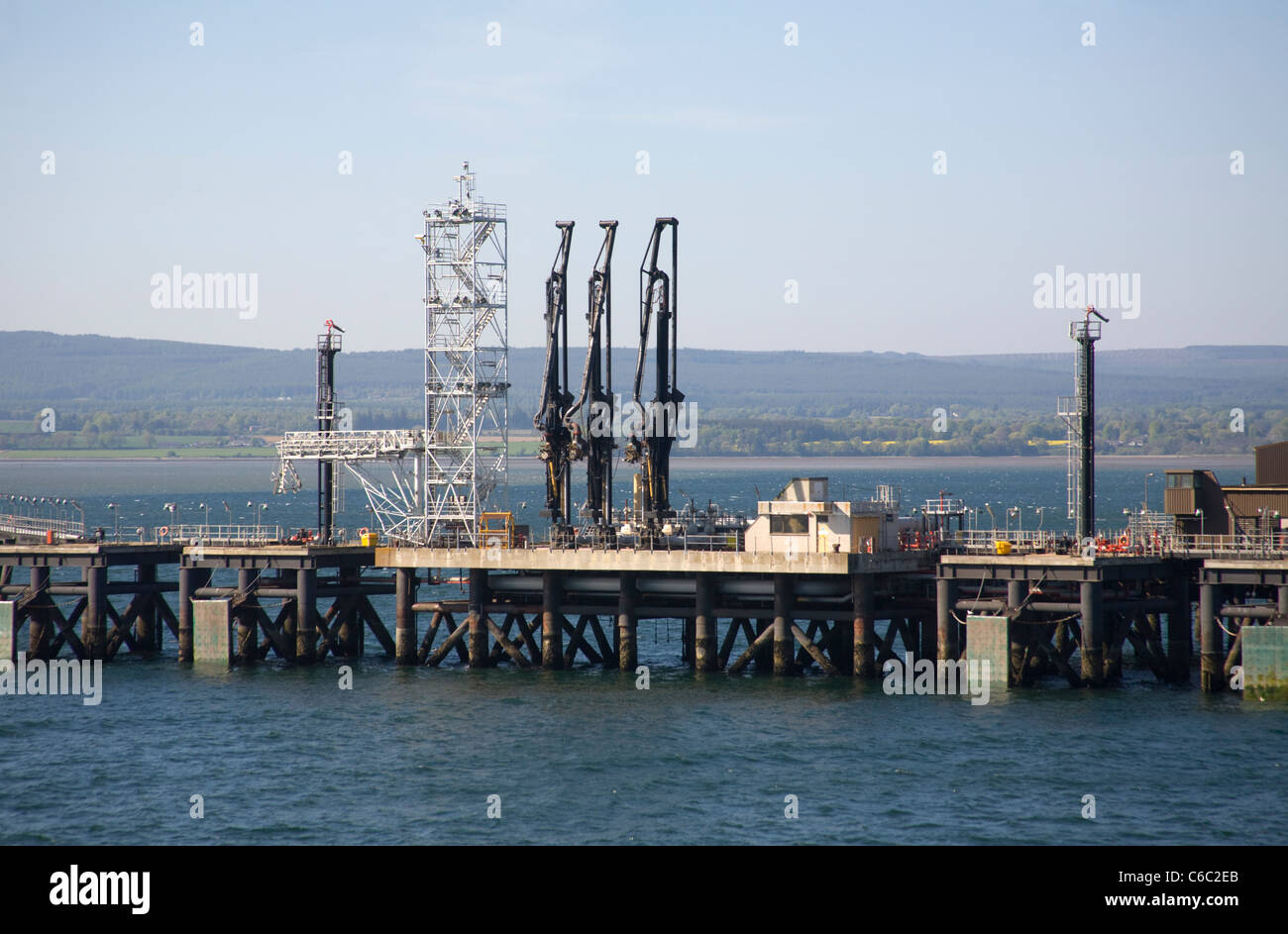 Oil terminal Invergordon  Cromarty Firth Stock Photo