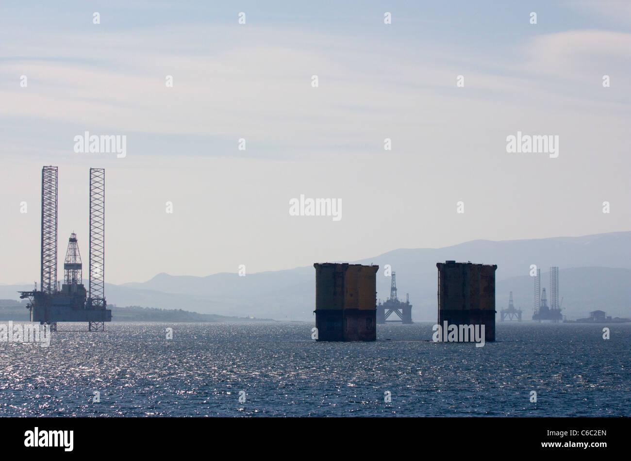 Oil rig Invergordon  Cromarty Firth Stock Photo
