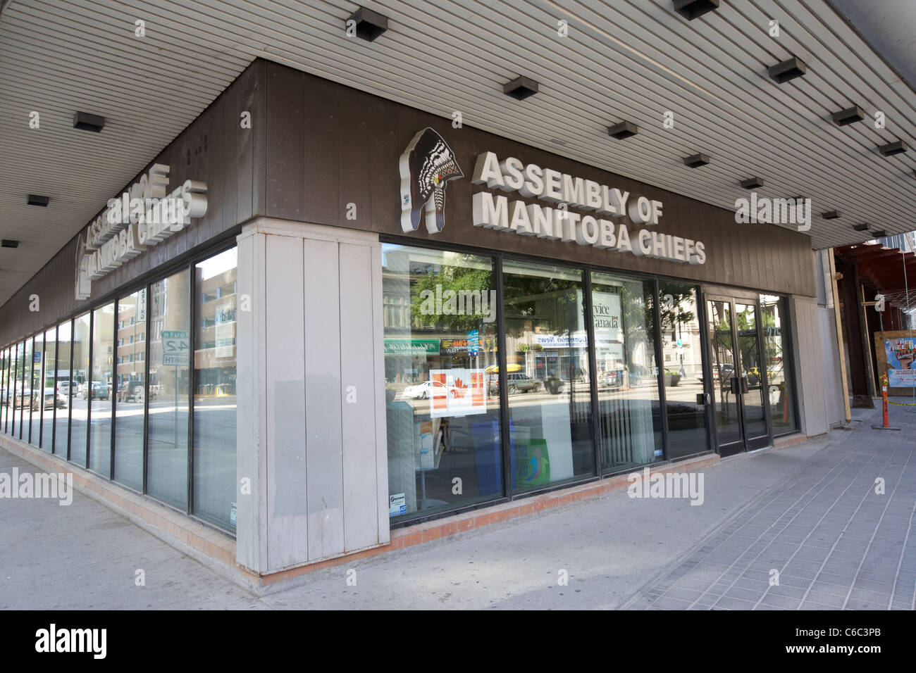 assembly of manitoba chiefs office downtown winnipeg manitoba canada - Stock Image