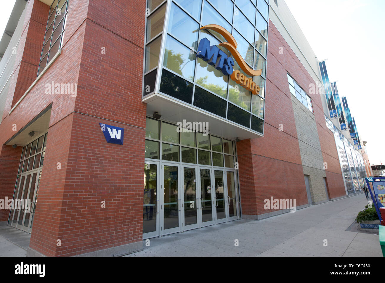 rear entrance exit mts centre downtown winnipeg manitoba canada - Stock Image