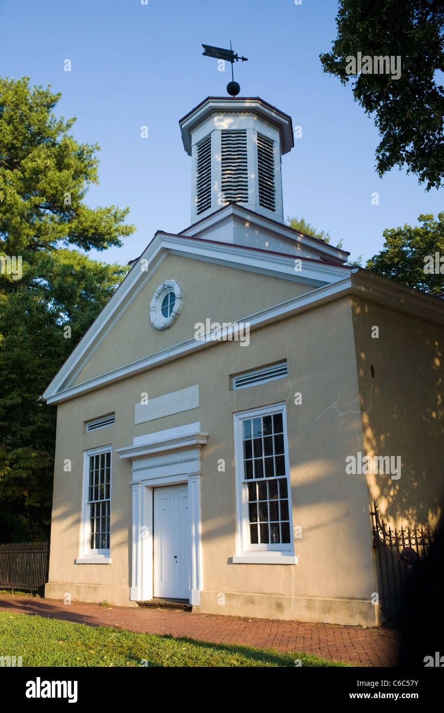 Old St. Mary's 1703, Burlington, New Jersey, first Episcopal Church in the state - Stock Image