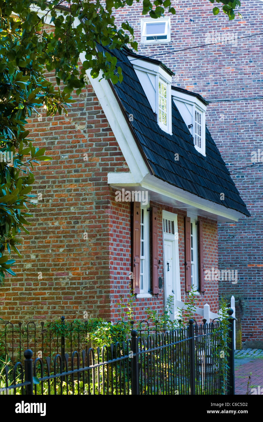Revell House, 1685, Burlington, New Jersey - Stock Image