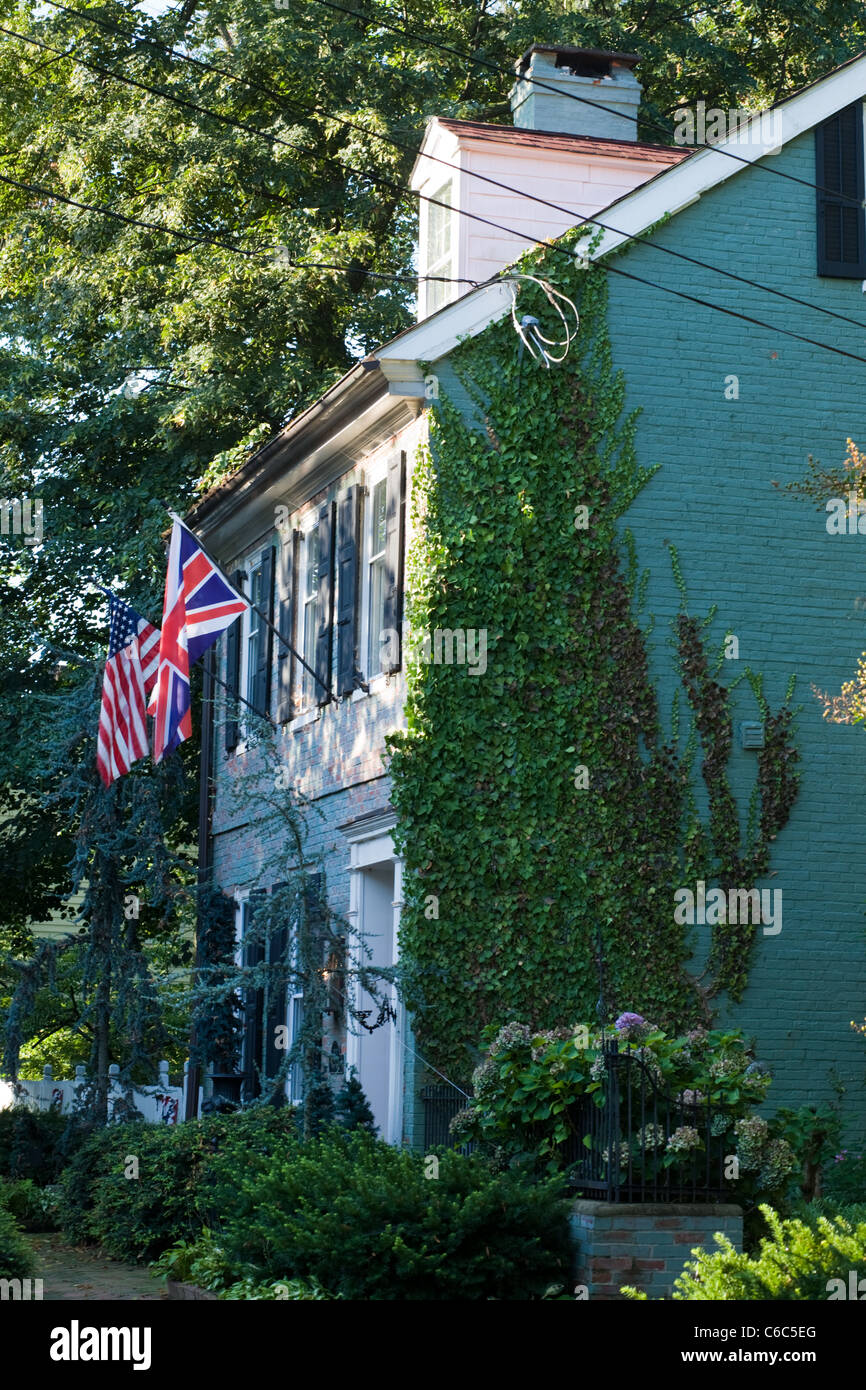 Historic home in Burlington, New Jersey - Stock Image
