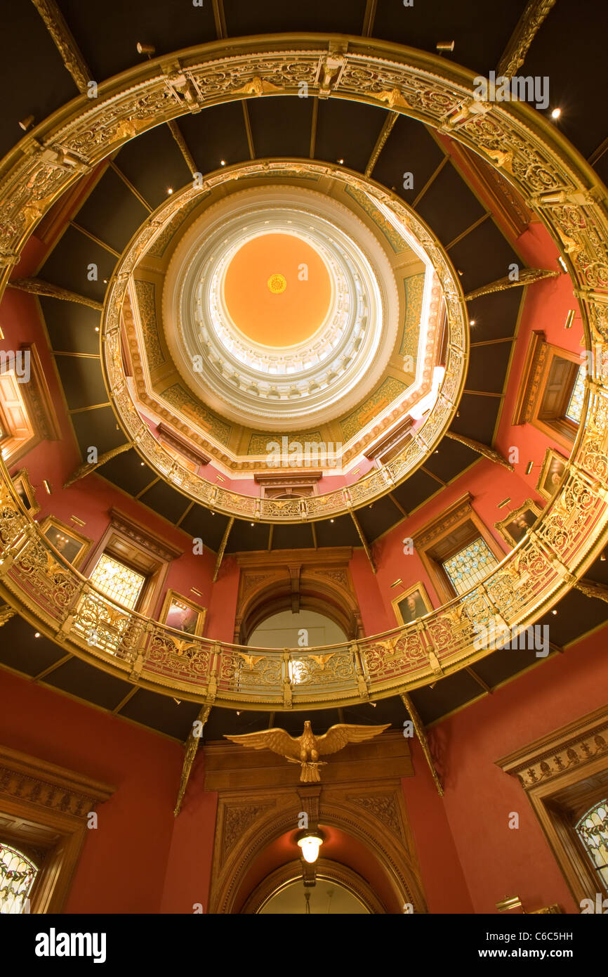 Dome of New Jersey Statehouse in Trenton - Stock Image