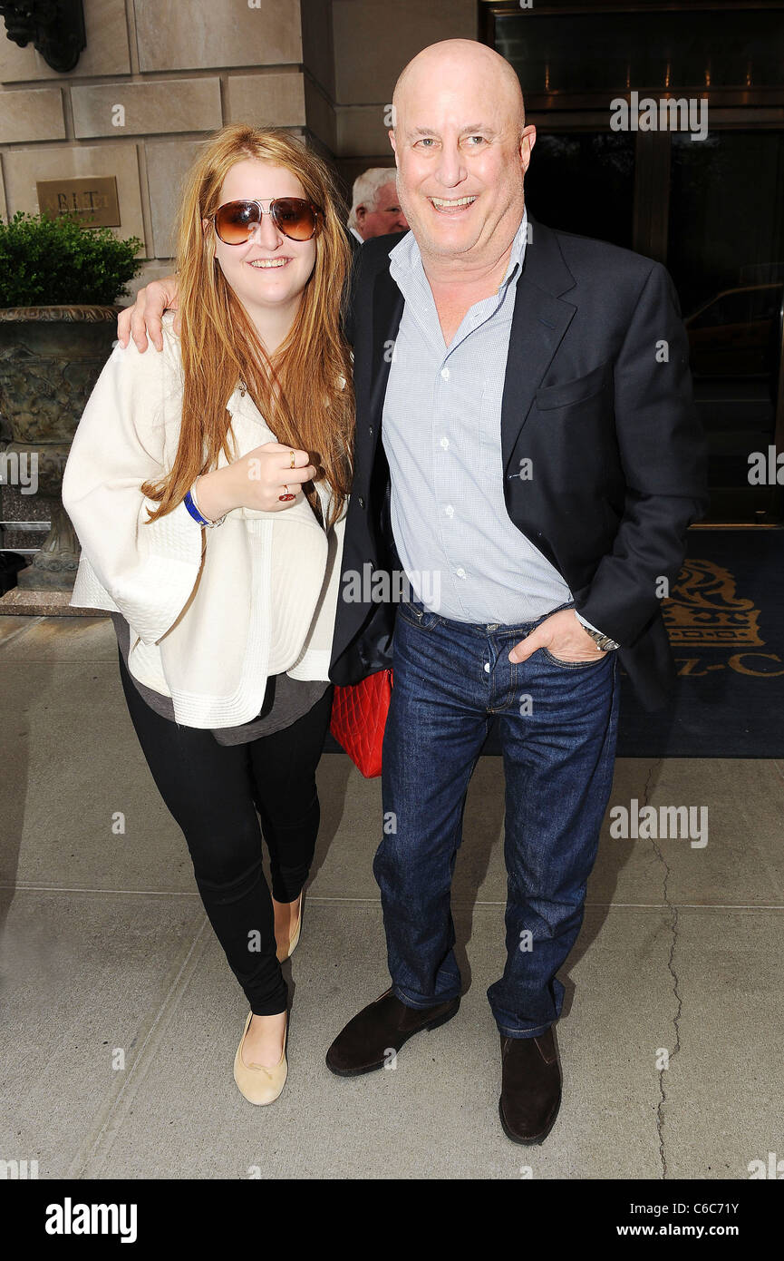 Businessman Ron Perelman and daughter Samantha Perelman pose for photos outside their Manhattan hotel New York City, - Stock Image