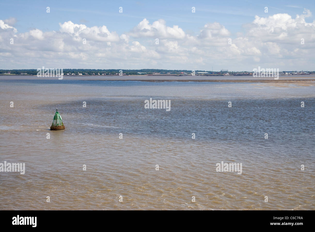 river mersey from eastham country park on the wirral - Stock Image