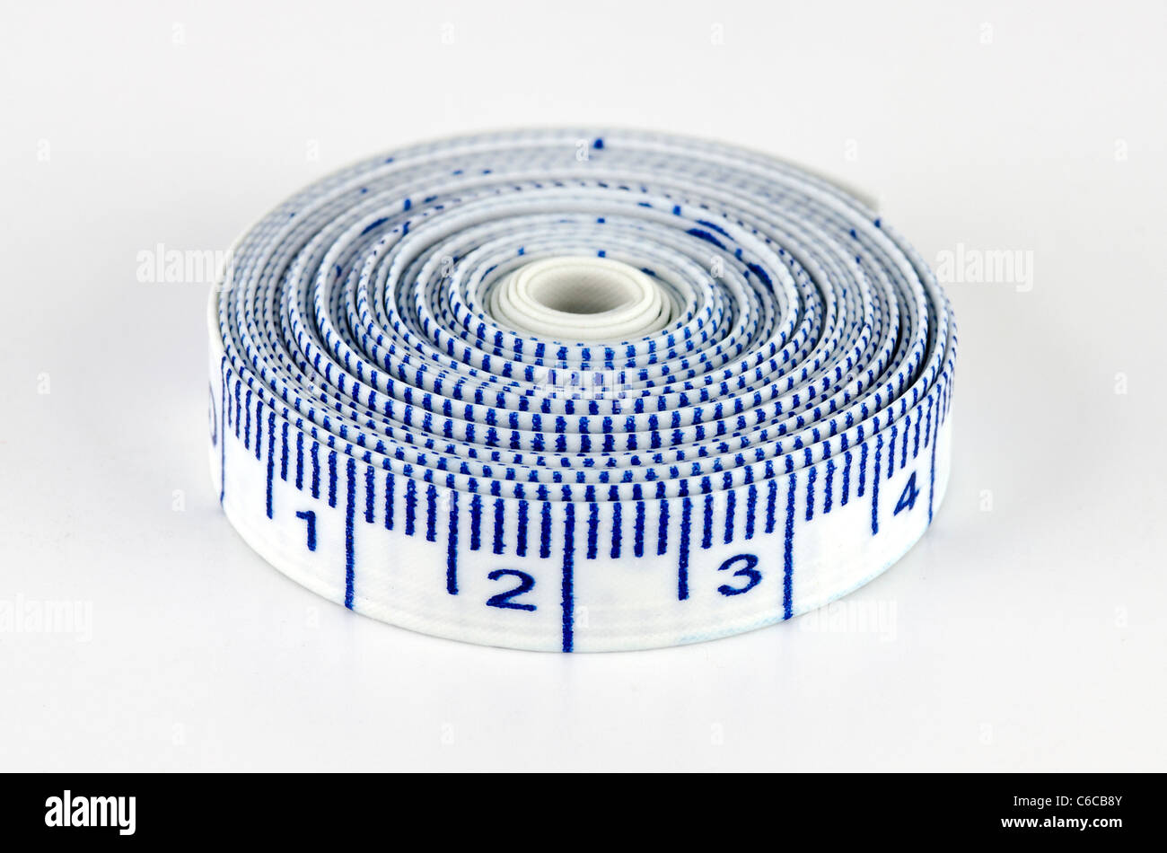 Close Up Macro of Tape Measure Roll - Stock Image