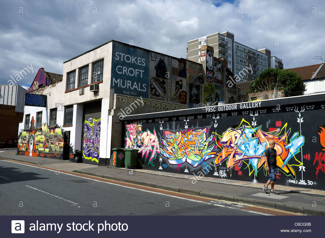 Murals in the Stoke's Croft area of Bristol, UK. - Stock Image