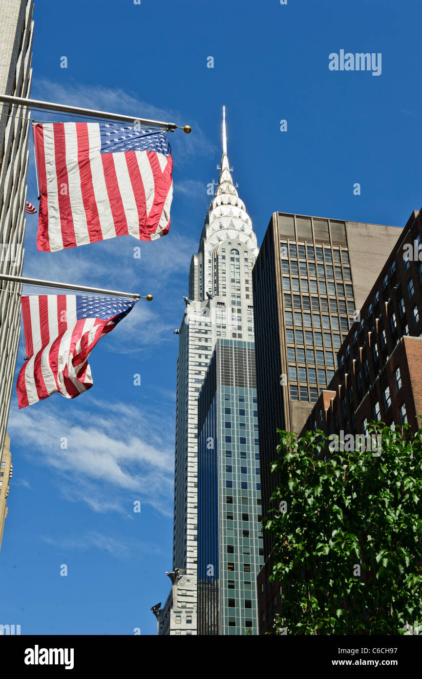 Iconic Chrysler building, New York City, Manhattan, USA. - Stock Image