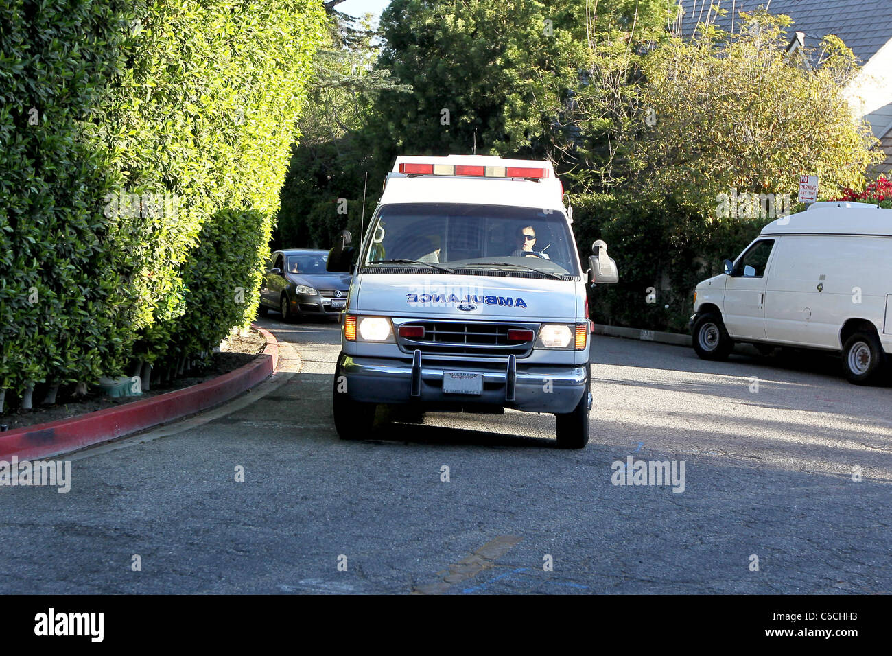 Ailing actress Zsa Zsa Gabor returning home in an ambulance Zsa Zsa Gabor has left a hospital in Los Angeles after Stock Photo