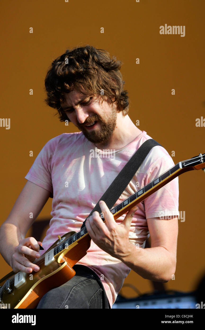 Wolfmother performs on day three of the Lollapalooza music festival Chicago, Illinois - 08.08.10 Ray Garbo - Stock Image